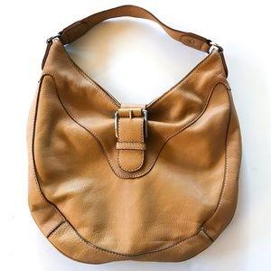 Michael Kors Leather Shoulder Bag Camel Color